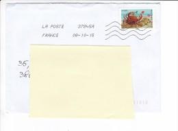 2015 10 08 Oblitération La Poste 37845A Sur Crabe - France
