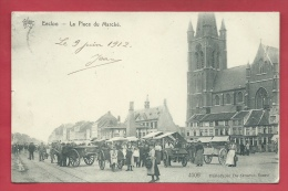 Eeklo / Eecloo - La Place Du Marché + Marché -  1912 ( Verso Zien ) - Eeklo
