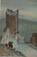 BASILIO  CASCELLA --  RUDERI DEL CASTELLO DE´ CANTELMI-POPOLI   2 SCAN   (NUOVA) - Peintures & Tableaux