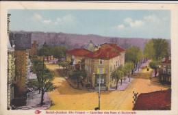 87----SAINT-JUNIEN---carrefour Des Rues Et Boulevards---voir 2 Scans - Saint Junien