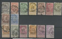 BELGIQUE - YVERT N° 53/67 OBLITERES - COTE = 145 EUR. - 1893-1900 Fine Barbe