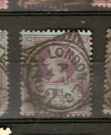 Great Britain & Marcofilia, 1887-1900 (95) - Used Stamps