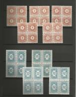 AUTRICHE - 9 BLOCS 4 TIMBRES TAXE NEUFS* N 102 à 110 - 1922 - SERIE COMPLETE - VOIR SCAN - Portomarken