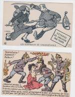 Militaria Francia : Due A Soggetto Satirico - Propaganda Anti Tedesco-  Non Comuni - Other