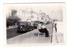 < Automobile Auto Voiture Car >> Belle Photo Originale 9 X 6 Peugeot 202 Promenade Couple