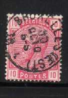 YT 38 OBLITERE COTE 2.50 € BRUXELLES EST - 1893-1900 Fine Barbe