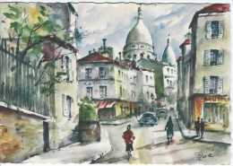 Paris - 14 - Rue Norvins Et Montmartre - Aquarelle Zoé - Circulé En 1963 - Couleur - TBE - France