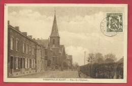 Viesville-Sart - Rue De L'Eglise - 1937 ( Voir Verso ) - Pont-à-Celles