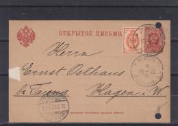 Russie - Estonie - Carte Postale De 1902 - Entier Postal - Oblitération Reval - Expédié Vers Hagen - Briefe U. Dokumente
