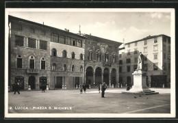 Cartolina Lucca, Piazza S. Michele Mit Credito Italiano - Lucca