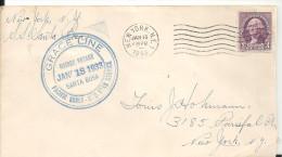 USA - GRACE LINE - Voyage Du JAN 13 1933 - SANTA ROSA Sur Lettre Du 13jan 33 De NY Pour NY - Lettres & Documents