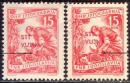 SLOVENIA - ITALY - TRIESTE - VUJNA - ZONE B - ERROR  - 79/I - USATO SENZA TRATTINO - 1953 - 7. Trieste