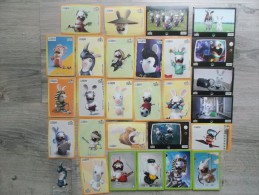 Lot Magnets Et Images Lapins Crétins - Advertising