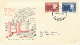 Mi 417-18 FDC / Niels Bohr Atomic Physics Nobel Laureate - 21 November 1963 - FDC