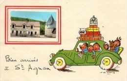 58 Bien Arrivés à St-AGNAN Carte Fantaisie - France