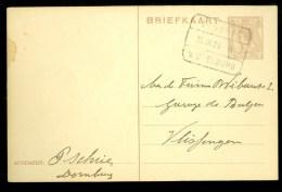 POSTHISTORIE * HANDGESCHREVEN BRIEFKAART Uit 1925 Gelopen Van DOMBURG Naar VLISSINGEN * TREINSTEMPEL (10.064) - Interi Postali