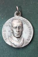 """Pendentif Médaille Religieuse """"Pape Pie XII / Vierge à L'Enfant""""  Religious Medal - Godsdienst & Esoterisme"""