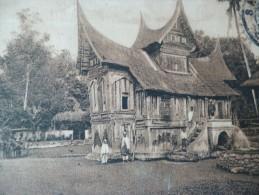 CPA Indonésie Sumatra Inlandsch Huis Bil Fort De Kock  Inde Néerdlandaise TP + Cachet - Indonésie