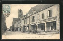 CPA Étampes, Les Piliers, Garcons, Restaurant Molon Lalucque Logeur - France