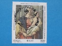 ITALIA USATI 2001 - PIERO DELLA FRANCESCA MADONNA DI SENIGALLIA - RIF. G 1840 LUSSO - 6. 1946-.. Repubblica