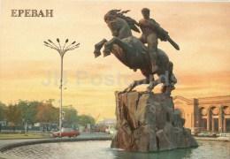 Monument To David Of Sasun - Horse - Car Zhiguli - Yerevan - 1987 - Armenia USSR - Unused - Arménie