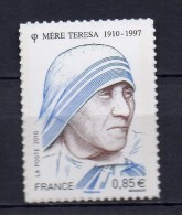 FRANCE - 2010 - PERSONNALITE - MERE TERESA  -  N° 468 - NEUF*** - Adhésifs (autocollants)