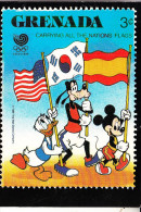 DISNEY / Postcard Grenada Stamp - Disney
