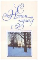 USSR, 1967. HAPPY NEW YEAR! WINTER WOOD. Artist V. Ryklin. Unused Postcard - Nieuwjaar