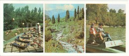 Kindergarten Of Almaty Cotton Mill - Mountains - Pedalos - Almaty - Alma-Ata - 1980 - Kazakhstan USSR - Unused - Kazakhstan