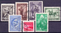 Rumänien Mi. 406-412 Gest. (€ 50,00) - Ansehen!! - 1918-1948 Ferdinand, Charles II & Michael