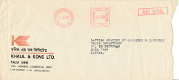 Commercial Airmail Cover Meter - 1 June 1996 To Latvia Europe - Bangladesh