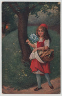 Little Red Riding Hood Rotkäppchen Piroska Tale Little Girl Forest Post Card Postkarte POSTCARD - Vertellingen, Fabels & Legenden