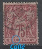 FRANCE - 1876-78 - Obl. - Y&T 71 -  75c - TYPE I - SAGE - - 1876-1878 Sage (Type I)
