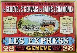 CP . LES EXPRESS : De GENEVE A CHAMONIX - Advertising
