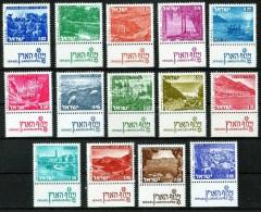 "Israel - Israele – 1971 ""Paysages, Paesaggi, Lotto Di 14 Francobolli"" Nuovo - Neufs (avec Tabs)"