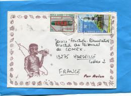 MARCOPHILIE-lettre-NLLE CALEDONIE-pour Françe -cad 1976-2 Stamps N°380+403fontaine Monumentale - Nieuw-Caledonië