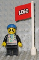 279/330  LEGO COSTRUZIONI PALO BANDIERA PUBBLICITARIA LEGO TETTO - Lego System