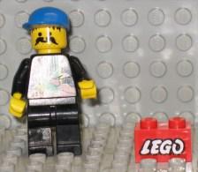 279/124  LEGO MATTONCINI BRIQUE 1x2 ROSSO ROUGE SERIGRAFATO LEGO SERIGRAPHIE ORIGINALE COSTRUZIONI - Lego System