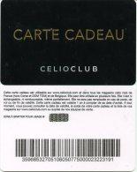@+ Carte Cadeau - Gift Card :  CELIO Club - 2015.