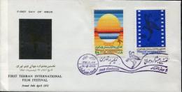 2266 Iran, Fdc 1972  First Tehran International Film Festival  Movie,  Film, Cinema - Kino