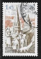 N°  1937  FRANCE  -  OBLITERE  -   COLLEGIALE DE DORAT  -  1977 - France