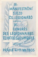 K4597 - Czechoslovakia (1935) Commemorative Sheet: III. Congress Manifestation Of Czechoslovak Legionnaires (1914-1918) - Militaria