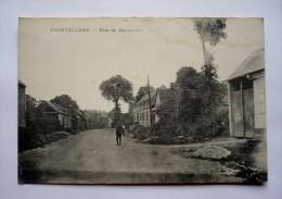 80  - Rare Carte  De   FIENVILLERS - Rue De BERNAVILLE - Francia