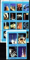 Ajman 1970 Space Apollo Set Of 20 MNH - Raumfahrt