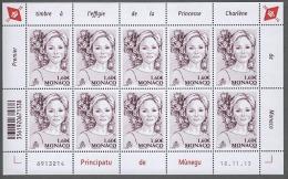 ** MONACO 2015 / 2016 ( 1er Effigie De La Princesse Charlène ) Feuille De 10 Timbres Neuf Numerotee ** - Blocs