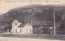 CPA - BARRAUX : La Gare Du Tramway électrique De Chapareillan à Grenoble - Barraux