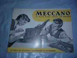 AA3-4 Ancien Catalogue Jouet Meccano - Modélisme Jouet En Tole - 20 Pages - Autres Collections