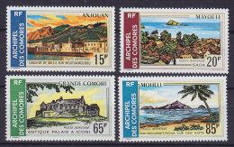 Comores 1971 Mi. 119-22 Landschaften Anjouan, Mayotte, Grande Comore, Moheli Complete Set MH* - Nuovi