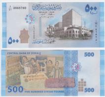 Syria NEW - 500 Pounds 2013 - UNC - Siria