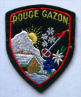 Fanion écusson Belfort Ballon D'Alsace Rouge Gazon - Scudetti In Tela